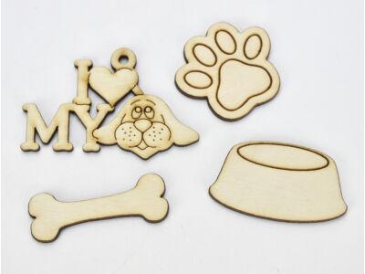 Natúr fa - Kutya kellék csomag 4db/csomag