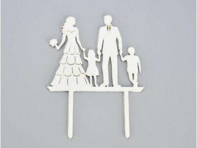 Fa - Tortadísz esküvő gyerekekkel fehér