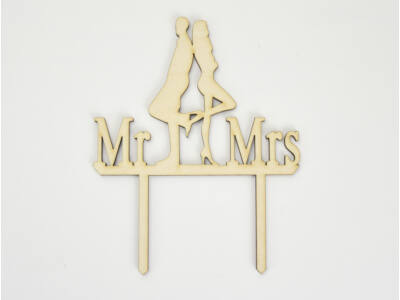 Natúr fa - Tortadísz Mr&Mrs az igazi