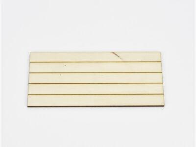 Natúr fa - Csíkos tábla kicsi 7x14,5cm