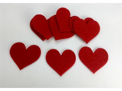 Filc - Szív 5cm 10db/csomag