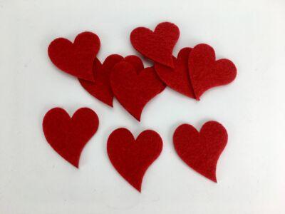 Filc - Francia szív 4cm 10db/csomag