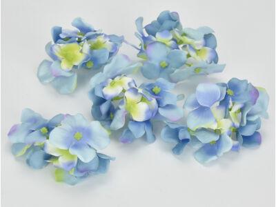Kék hortenzia fej 5db/csomag