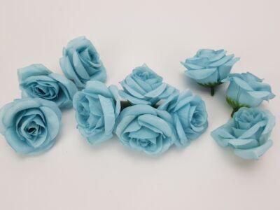 Rózsafej kicsi világoskék 4cm 10db/csomag